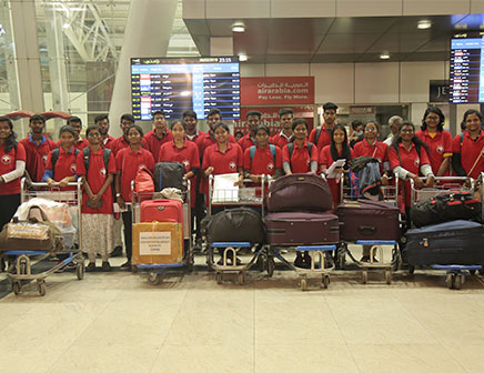Lyceum Northwestern University Students Photo at Airport
